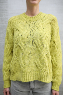 Pullover mit Zopf-Strick-Muster