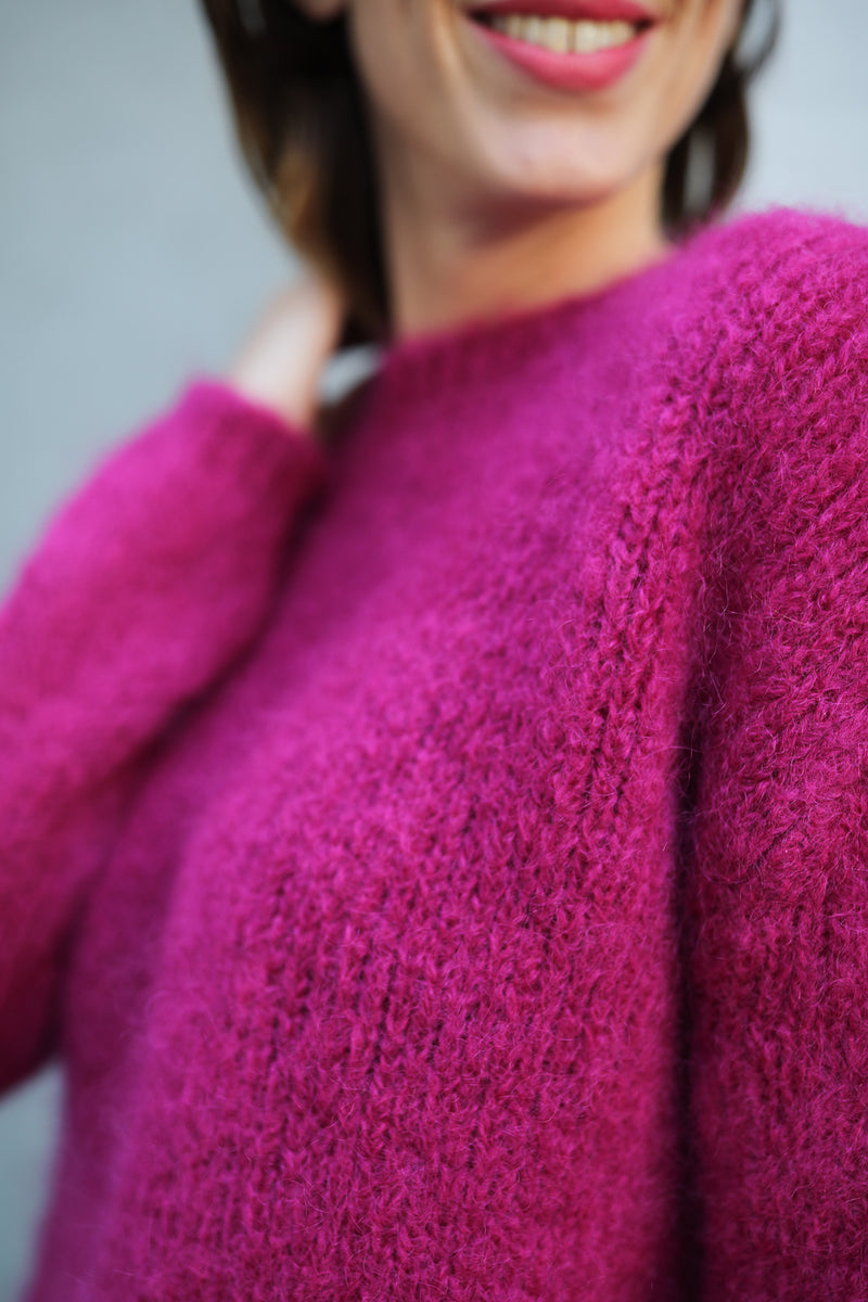 Pullover aus Mohair-Wolle