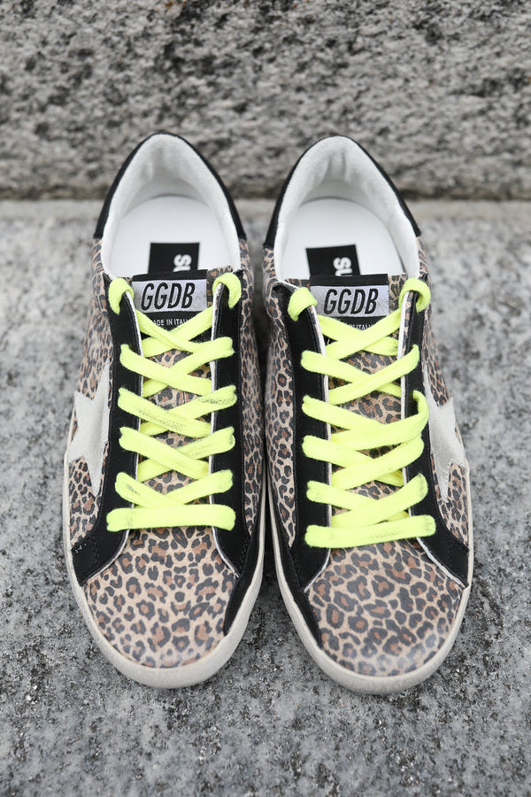 Sneakers Superstar mit Leopardenmuster
