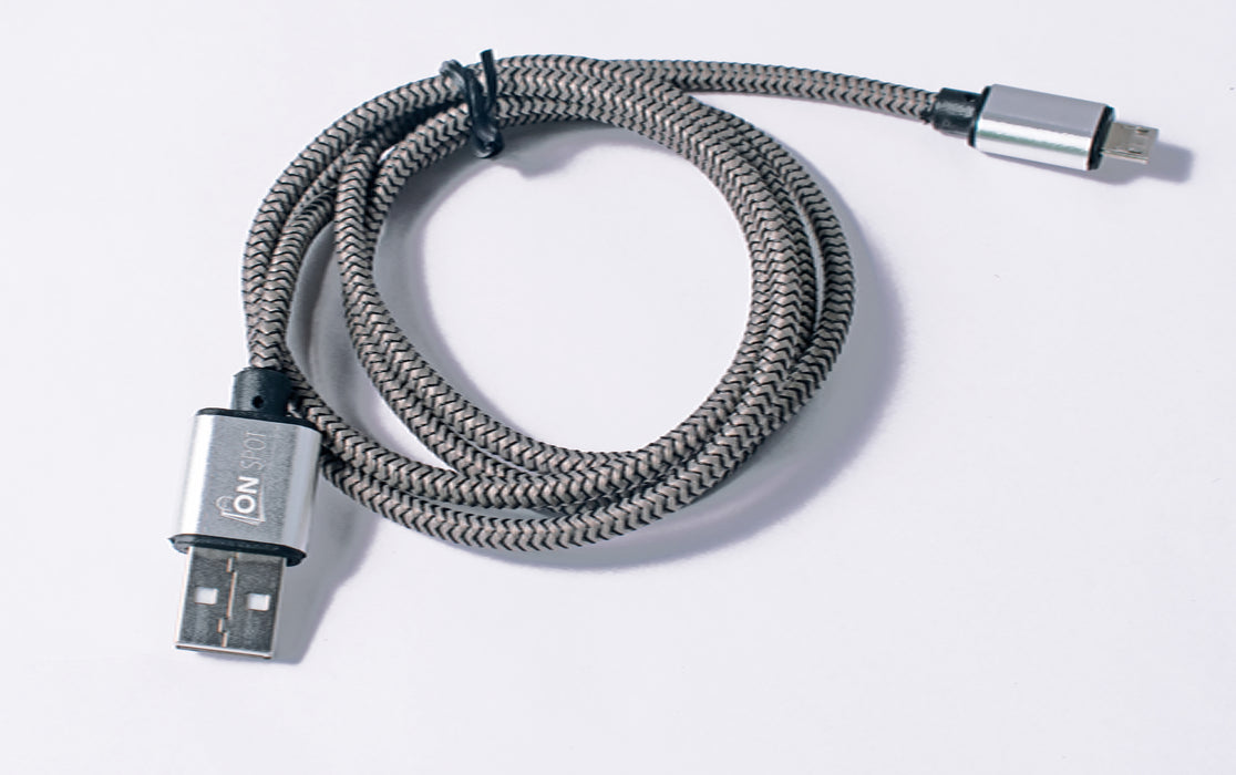 Micro USB Cable With Fishnet 1M Black