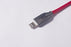 Lightning Cable Zinc Alloy Fishnet 1M RED Compatible with iPhone/iPad/iPod