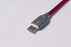 Type C USB Cable Zinc Alloy Fish Net 1M RED