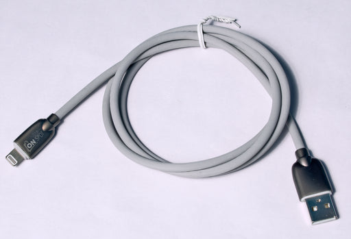 Lightening Cable ZincAlloy GearTPE 1M Grey with iPhone/iPad/iPod