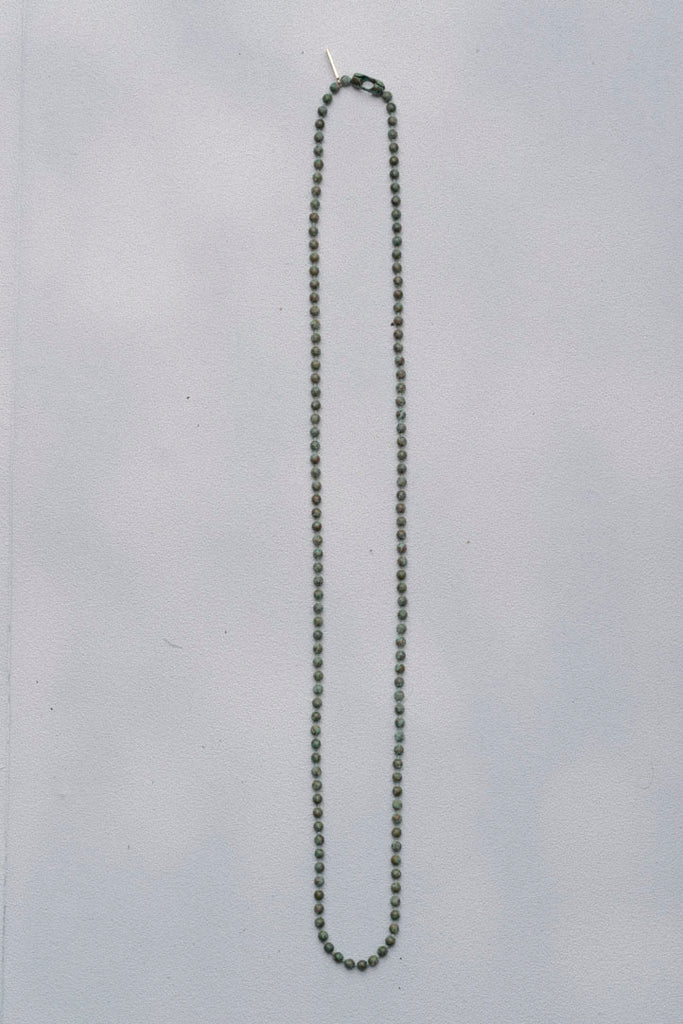 RUSTED BALL CHAIN NECKLACE SHORT