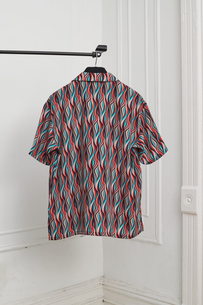 PRINTED KOOL POLY BOXY FIT CAMP SHIRT