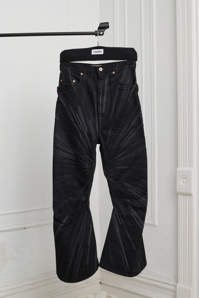 SPACE LASER SHORT 3D BOOT CUT JEANS