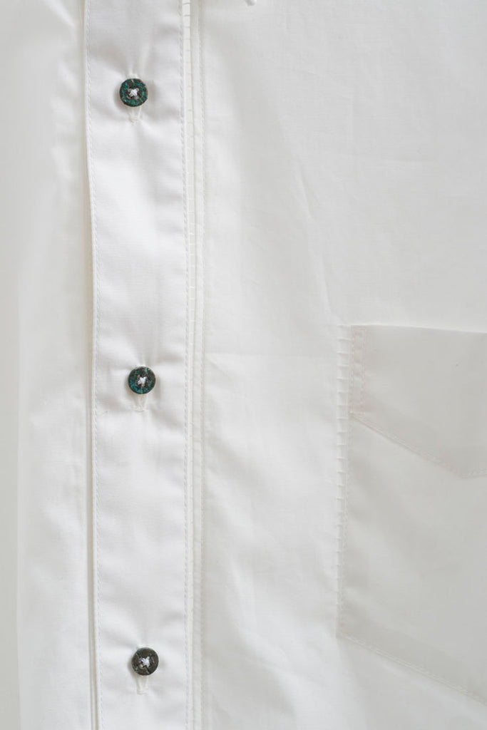 GAP STITCHED SHIRT W RUSTED BUTTON