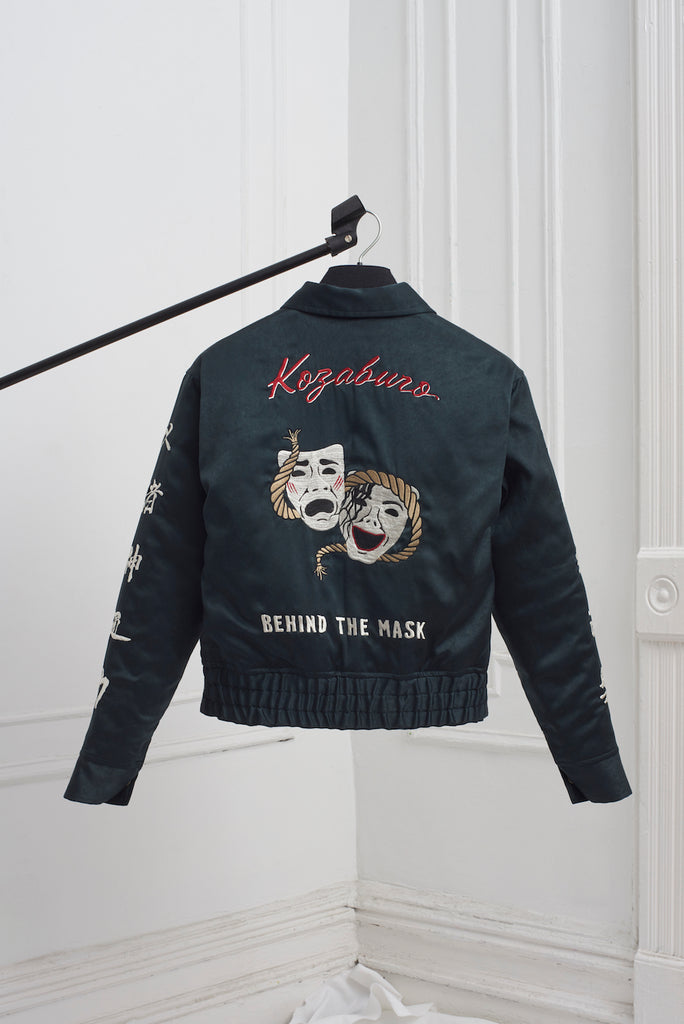 BROKEN SATIN SOUVENIR JACKET