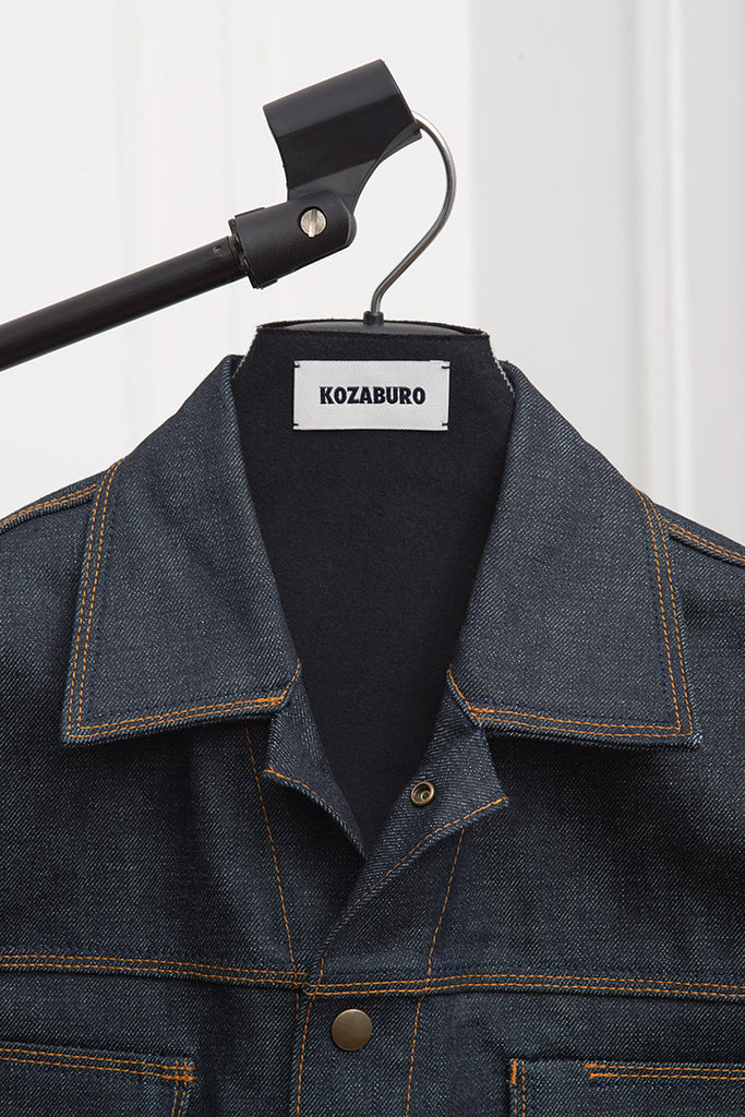 SELVEDGE DENIM TAILORED SLEEVE SNAP JEAN JACKET