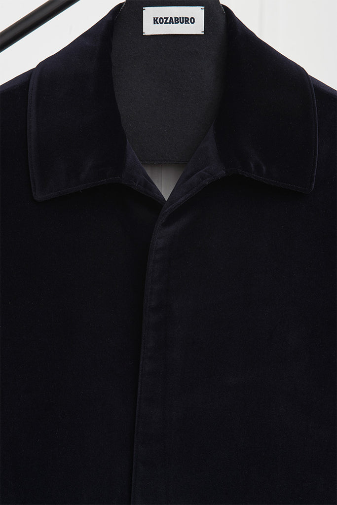 VELVET BAL COLLAR COAT