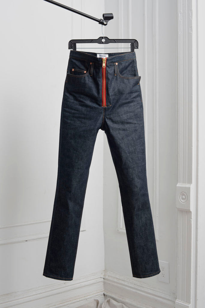 SELVEDGE DENIM SLIM LEG RUMBLE JEANS