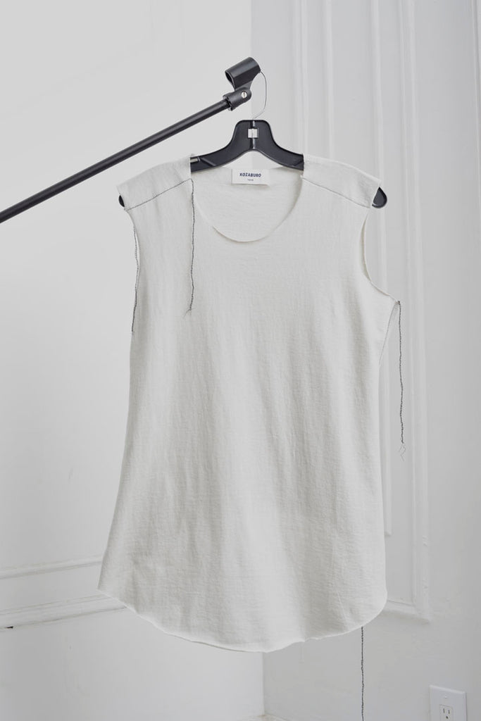 GAP STITCHED RAW EDGE TANK