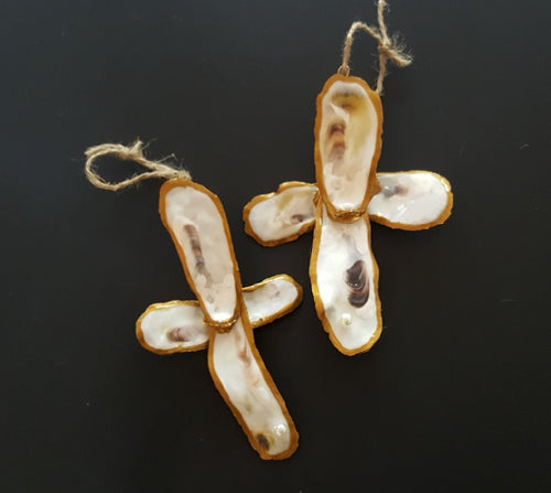Oyster Shell Crosses - Set of Two