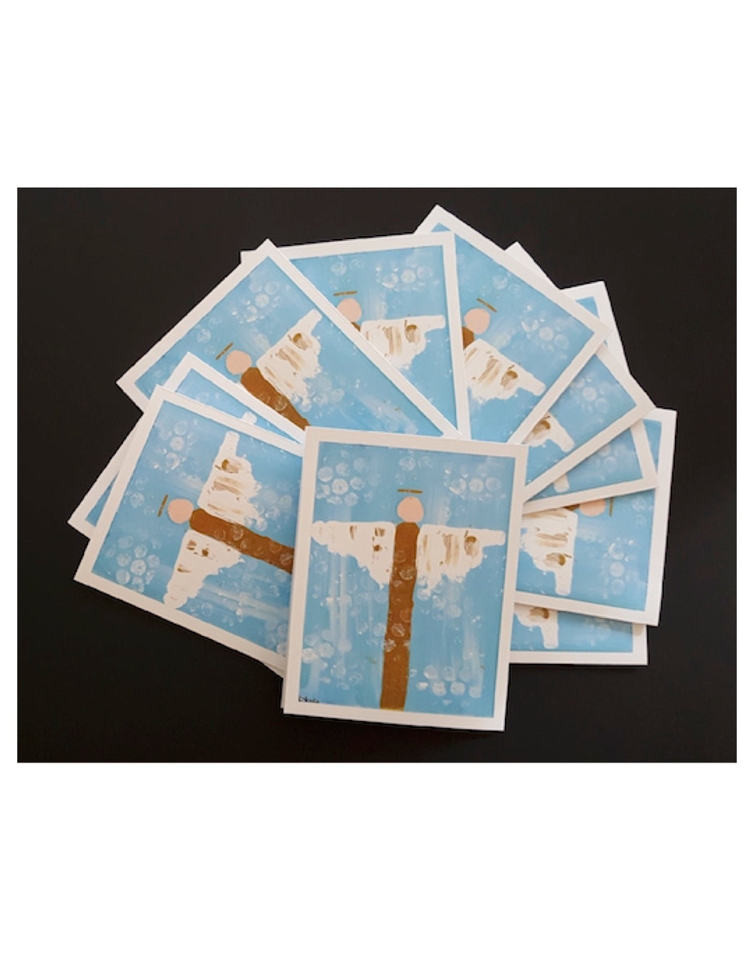Set of 10 Blue Angel Notecards