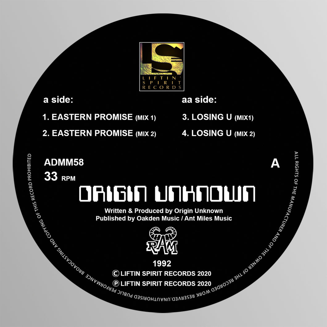 Origin Unknown - Eastern Promise E.P (Black Vinyl)
