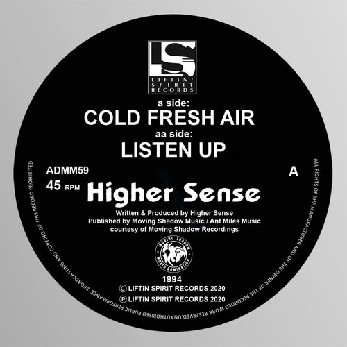 Higher Sense - Cold Fresh Air / Listen Up (Black Vinyl)