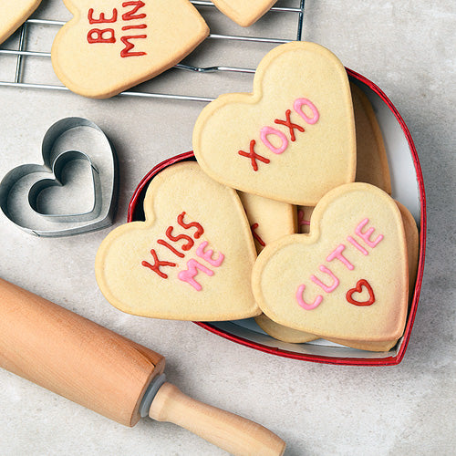 Homestead Gristmill Sugar Cookie Mix is an easy way to make Valentine's Day treats - Hardie's Direct, Dallas TX