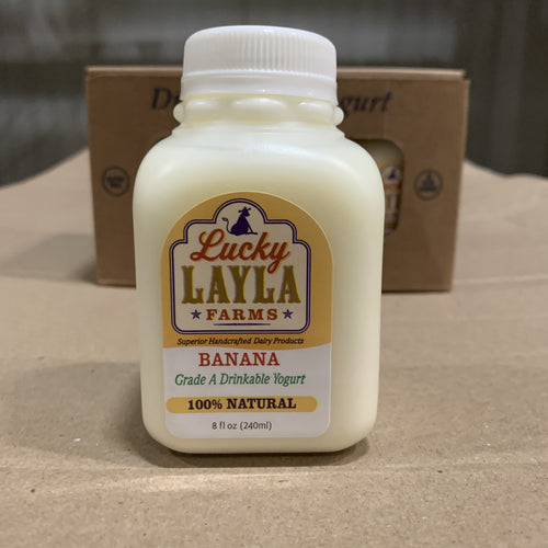 Yogurt Drink, Banana Lucky Layla 6 ct - Hardie's Direct Dallas, TX