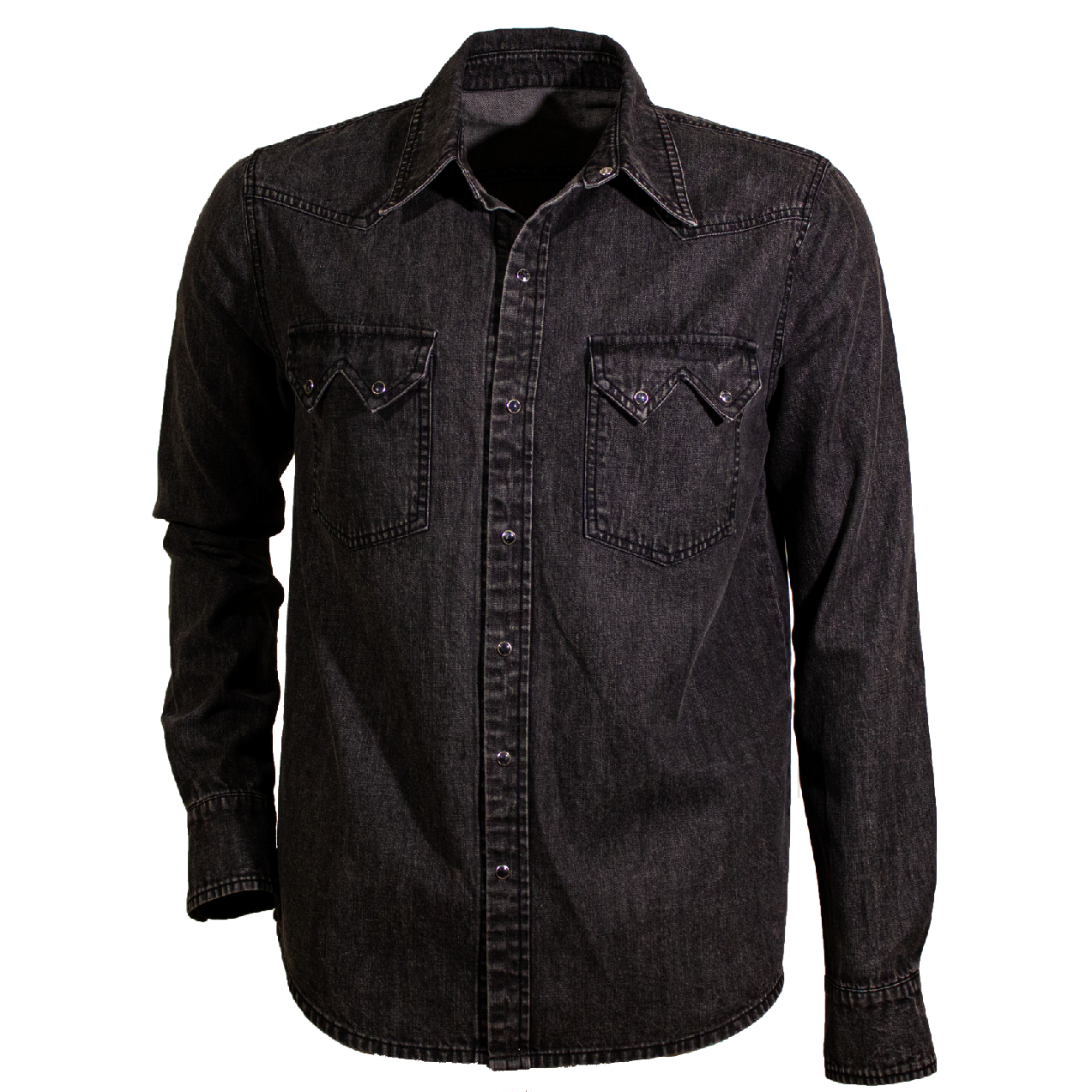 Camicia Denim Nera - Mr. Enjoy