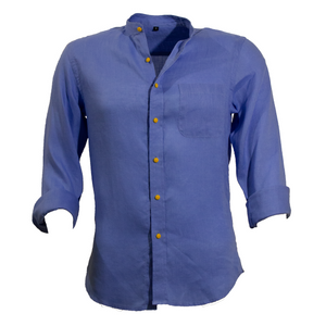 Camicia Coreana Blu - Mr. Enjoy