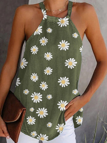 Summer Casual Daisy Sleeveless Tank
