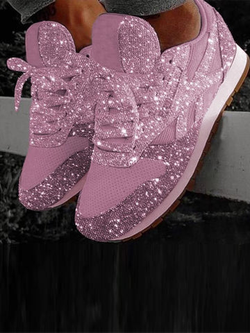 Leisure Fashion Sparkle Sneakers Shoes