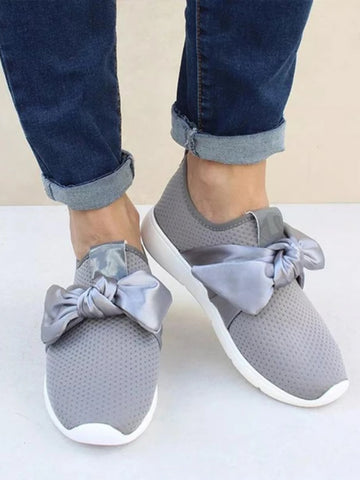 Daily Plus Size Casual Bow Sneakers