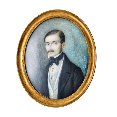 Portrait Miniature by Pasquier of an Early 19th Century French Gentleman