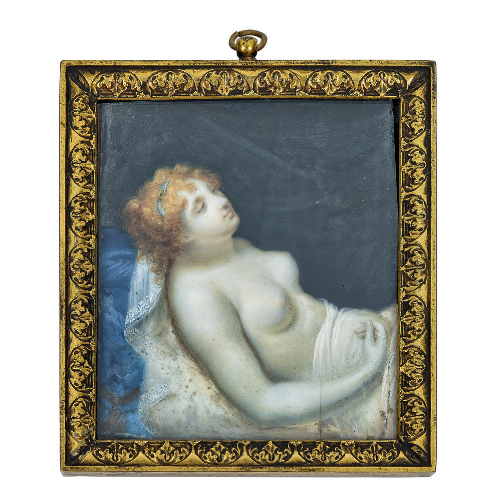 Portrait Miniature of a Semi-Nude Lady Depicted as Venus Reclining