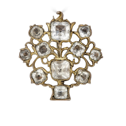 Georgian Giardinetti Rock Crystal Brooch