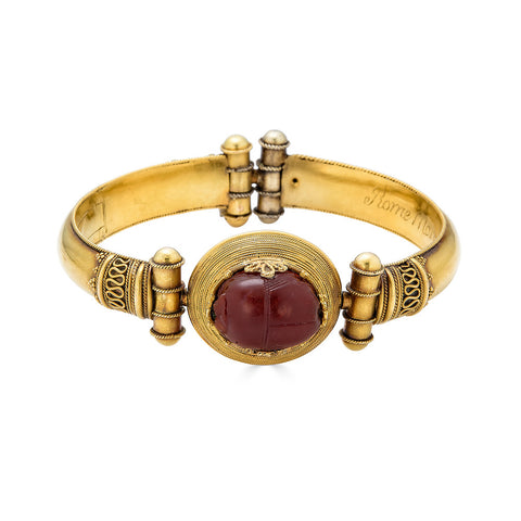 Egyptian Revival Bracelet with Scarab