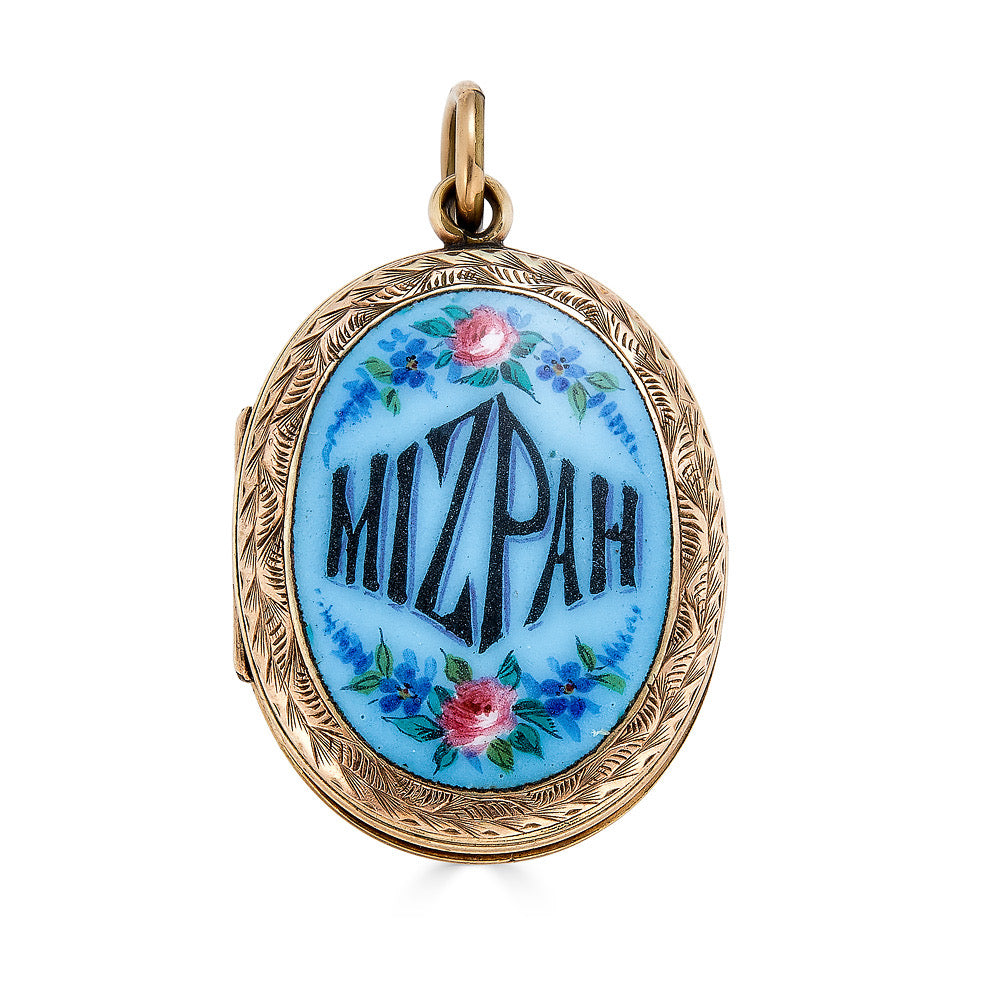 Gold Mizpah Locket with Photos