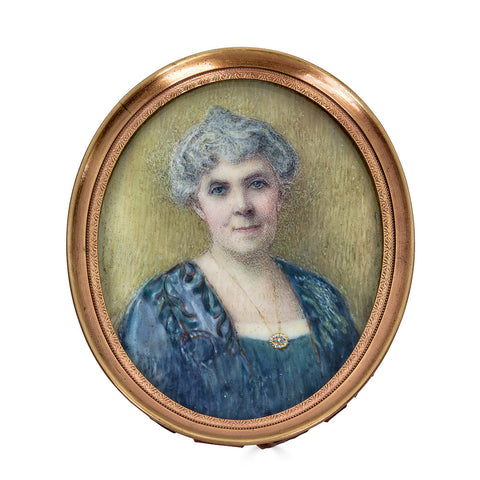 Portrait Miniature C. 1890 of a Late Nineteenth Century American Lady