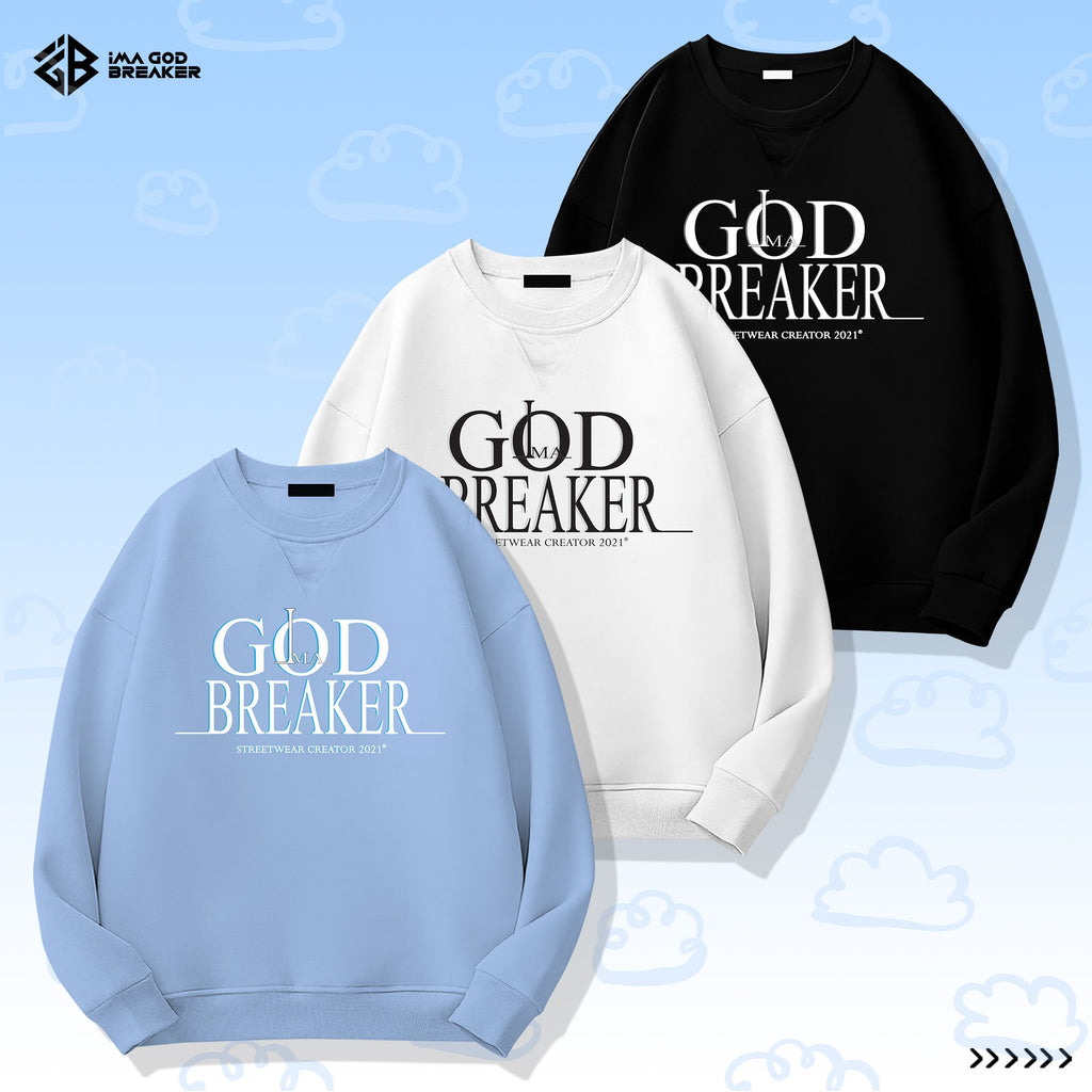 iGB Black Basic Sweater - Áo Sweater Basic Màu Đen iMA God Breaker