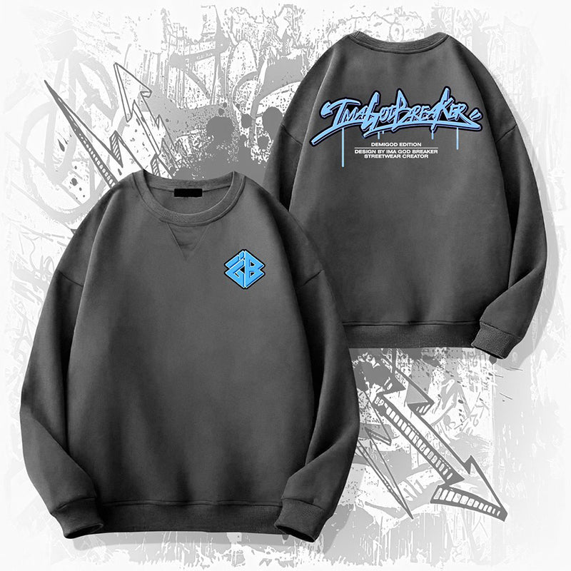 iGB Metallic Gray Graffiti Sweater (Limited Edition) iMA God Breaker