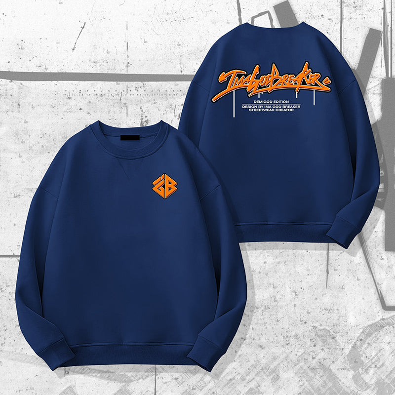 iGB Blue Graffiti Sweater -  Áo Sweater Graffiti Xanh Dương iMA God Breaker (Limited Edition)