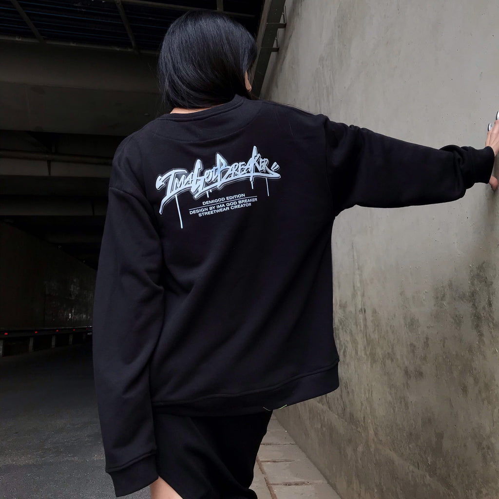 iGB Black Graffiti Sweater (Limited Edition) - iMA God Breaker