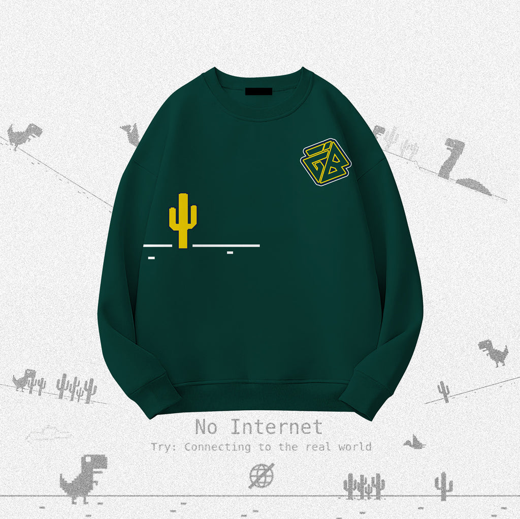 iGB Basic Greensaurus Sweater - Áo Sweater Basic Khủng Long Màu Xanh iMA God Breaker