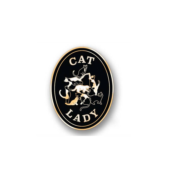 Cat Lady Enamel Pin
