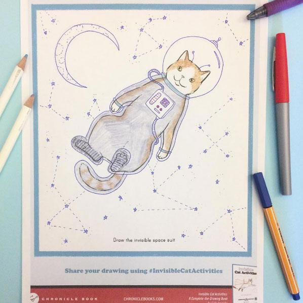 Invisible Cat Activities Coloring Book