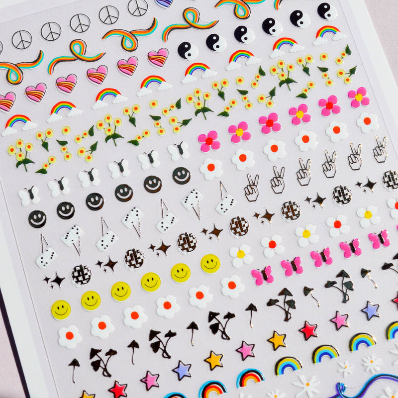 Stay Groovy Nail Art Stickers
