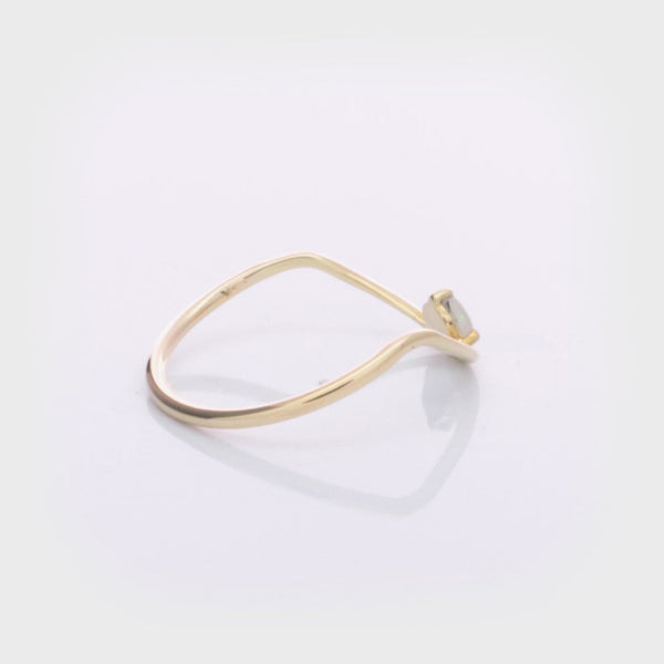 Sloped Arc Ring