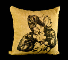 Load image into Gallery viewer, Sampaguita jute pillowcase