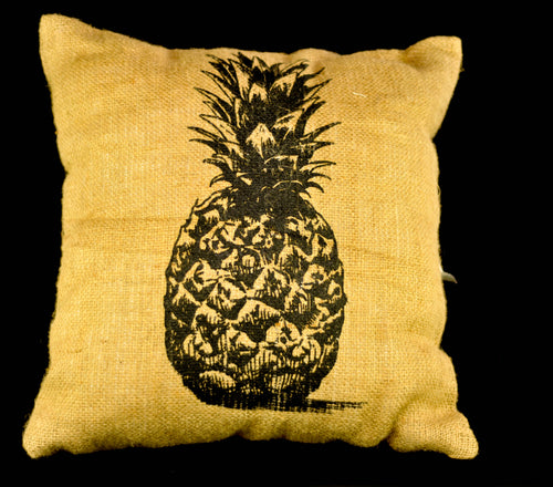 Pineapple Jute pillowcase