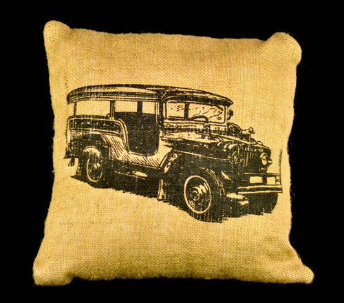 Jeepney jute pillowcase