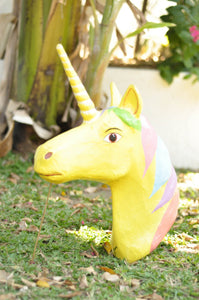 Unicorn head paper mache