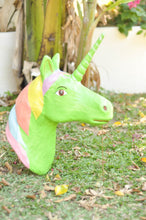 Load image into Gallery viewer, Unicorn head paper mache