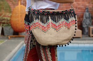 Laetitia Beaded Jute Bag