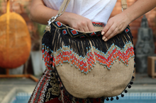 Load image into Gallery viewer, Laetitia Beaded Jute Bag