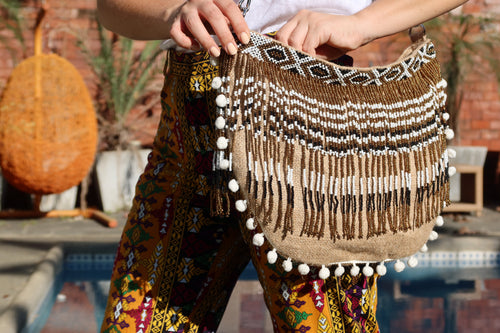 Lara Beaded Jute Bag